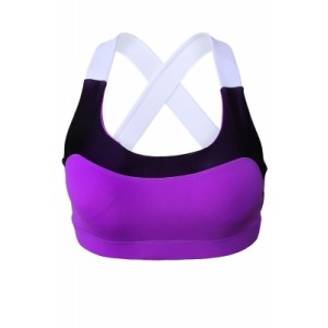 Purple Lovable Cross Back Active Yoga Bra