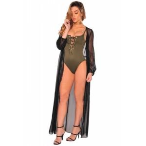 Sexy Sheer Chiffon Beach Tunic Cover up