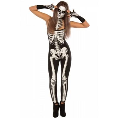 Skeleton Jumpsuit Women Halloween Costume
