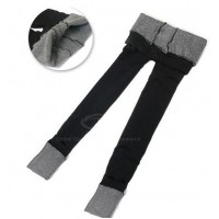 Slimming Thick Bamboo charcoal fibre Legging For Women black