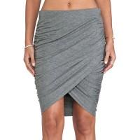 Stylish High-Waisted Bodycon Asymmetrical Slimming Skirt For Women gray