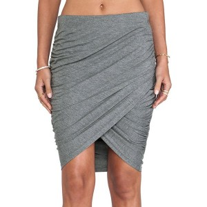 Stylish High-Waisted Bodycon Asymmetrical Slimming Skirt For Women gray