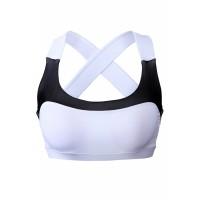 White Lovable Cross Back Active Yoga Bra
