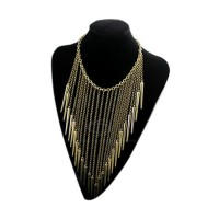 Punk Retro Style Rivet Tassels Pendant Design Necklace For Women