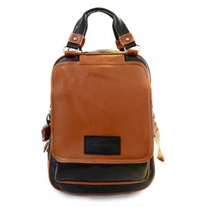 Retro Women's Satchel With Color Block and PU Leather Design