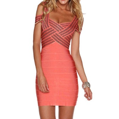 Sexy Women's Sweetheart Neckline Hollow Out Bodycon Bandage Dress
