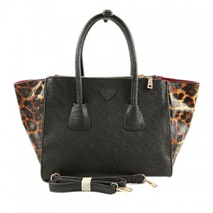 Stylish Women's Tote Bag With Leopard Print and PU Leather Design