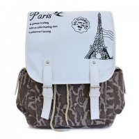 Trendy Women's Satchel With Color Matching and Print Design