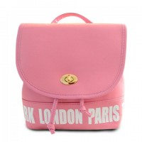 Trendy Women's Satchel With Letter Print and PU Leather Design