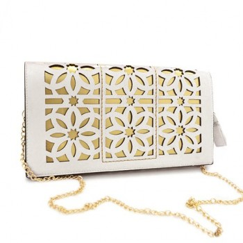 Trendy Women's Shoulder Bag With Openwork and Chain Design