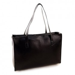 Casual Women's Shoulder Bag With PU Leather and Solid Color Deisgn White Black