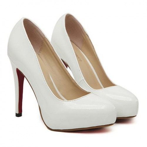 Elegant Women s Pumps With Solid Color and Patent Leather Design ...