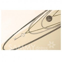 Fashion and Star Feel Style Multi-Strips Retro Feel Design Necklace