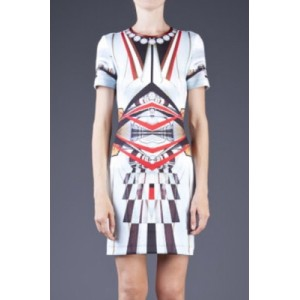 Multicolor Metro Station Cool Print Dress