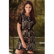 Short Sleeves Lace Crop Skirt Set