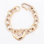 Simple Openwork Heart Shape Women's Bracelet
