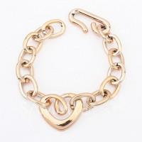 Simple Openwork Heart Shape Women's Bracelet