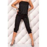 Stylish Strapless Sleeveless Solid Color Backless Jumpsuit For Women