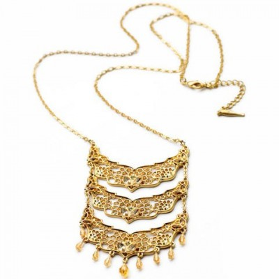 Unique Multi-Layered Hollow Flower Pendant Necklace For Women
