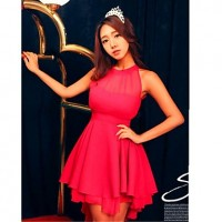 Women's Sexy Mesh Splicing Chiffon Dress