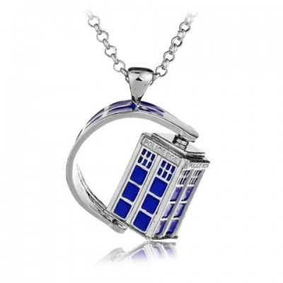 Characteristic Doctor Who Rotatable Necklace For Women