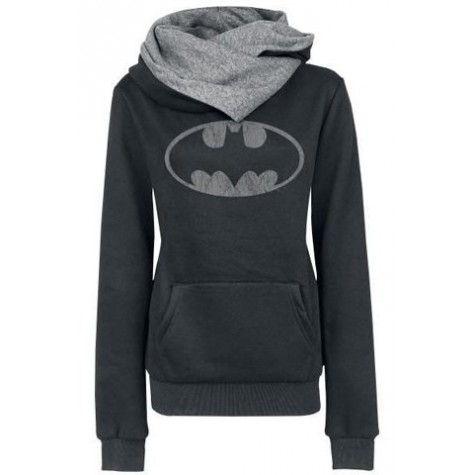 6d70c5427 Chic Hooded Long Sleeves Pocket Design Printed Hoodie For Women black