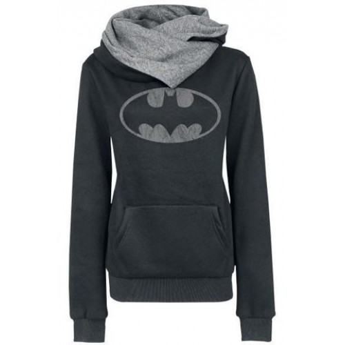 Chic Hooded Long Sleeves Pocket Design Printed Hoodie For Women ... f888be687