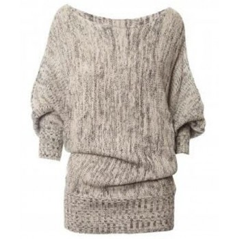 Chic Slash Collar 3/4 Batwing Sleeve Sweater For Women