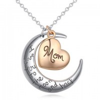 Cute English Letter Heart Pendant Necklace For Women