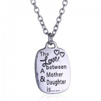 Delicate Letter Printed Square Shape Necklace For Women