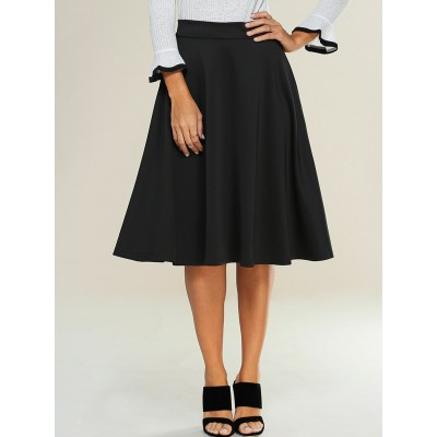 Empire Zipped A-Line Skirt