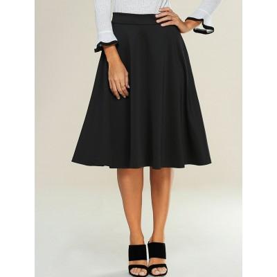 Empire Zipped A-Line Skirt