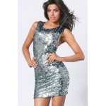 Sequin X-Back Dress