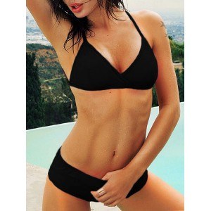 Sexy Women s Candy Color Push Up Bikini Set