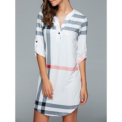 Shift Plaid Dress