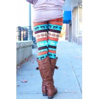 Stylish Elastic Waist Christmas Print Slimming Pants For Women