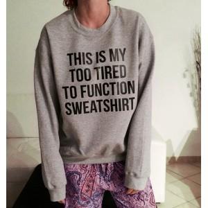Trendy Women's Loose Long Sleeve Letter Pattern Sweatshirt gray