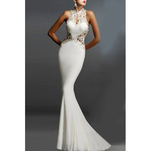 Cheap black fishtail dress