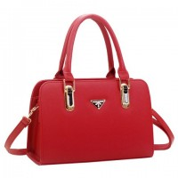 Casual Women's Tote Bag With Metallic and Candy Color Design red black blue