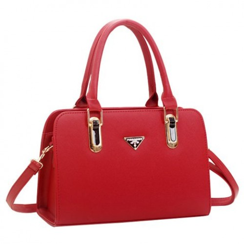 Casual Women s Tote Bag With Metallic and Candy Color Design red ...