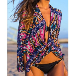 Geometric Print Stylish Bikini Cover For Women