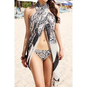 Sexy Women's Paisley Bikini Cover black