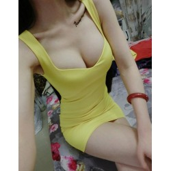Solid Color Alluring Sweetheart Neck Packet Buttock Dress For Women yellow red white