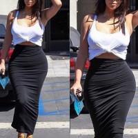 Stylish Women's U Neck Bodycon Suit black
