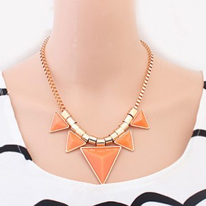 Welly Women's Geometrical Candy Color Necklace