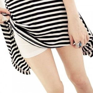 Casual Style High Elasticity Solid Color Cotton Blend Shorts For Women white
