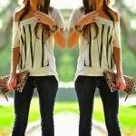 Letter Print Stylish One-Shoulder Short Sleeve T-Shirt For Women white
