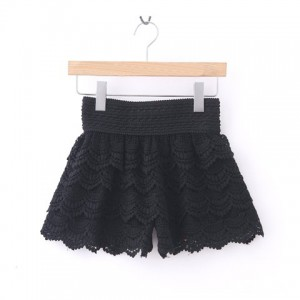 New Arrival Layered Crochet Lace Shorts For Women black