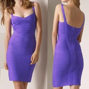 Sweetheart Neck Sleeveless Backless Solid Color Stylish Dress For Women orange blue purple