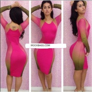 Women Sexy Slim Fit Cocktail Bodycon Bandage Dress Clubwear Evening Dress